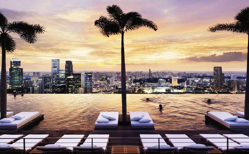 marina bay sands - infinity pool - Singapur