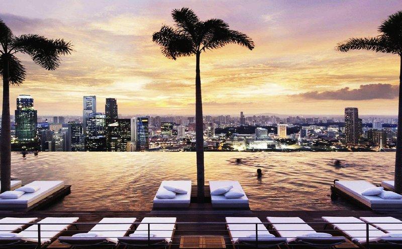 Marina Bay Sands höchste Pool der Welt