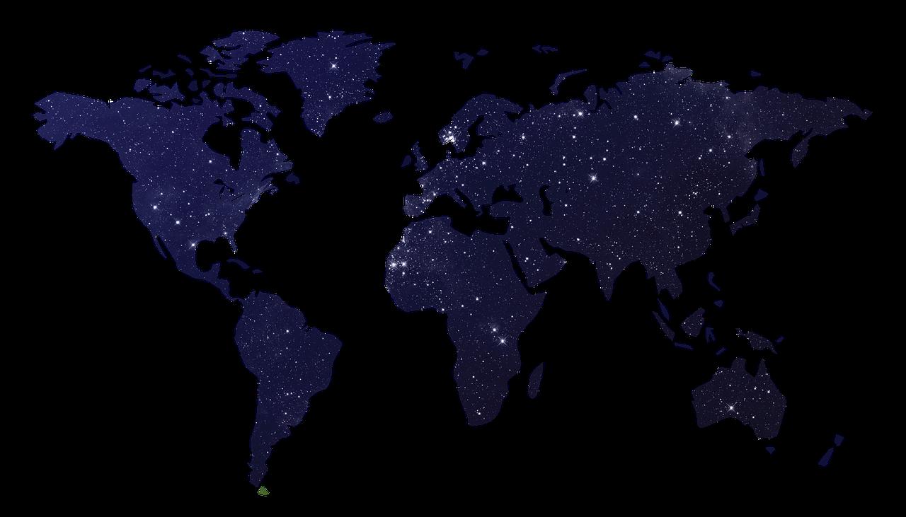 Weltkarte, Landkarte