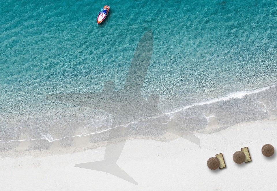 Strand, Meer, Flugzeug,