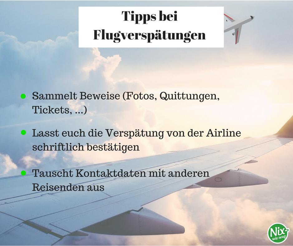 Tipps bei Flugverspätungen, Entschädigung, Flug