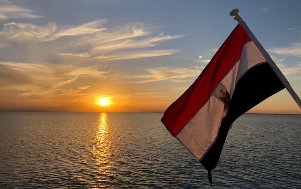 Ägypten Flagge, Sonnenuntergang, Reisebericht, Ägypten, Lena Stubenvoll