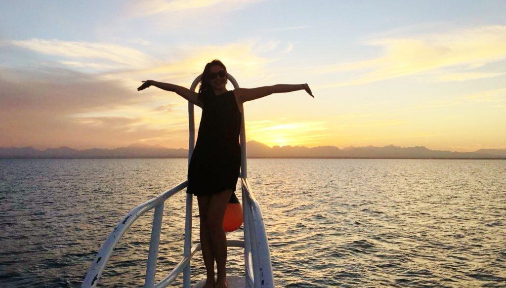 Reisebericht, Ägypten, Lena Stubenvoll, Boot, Sonnenuntergang