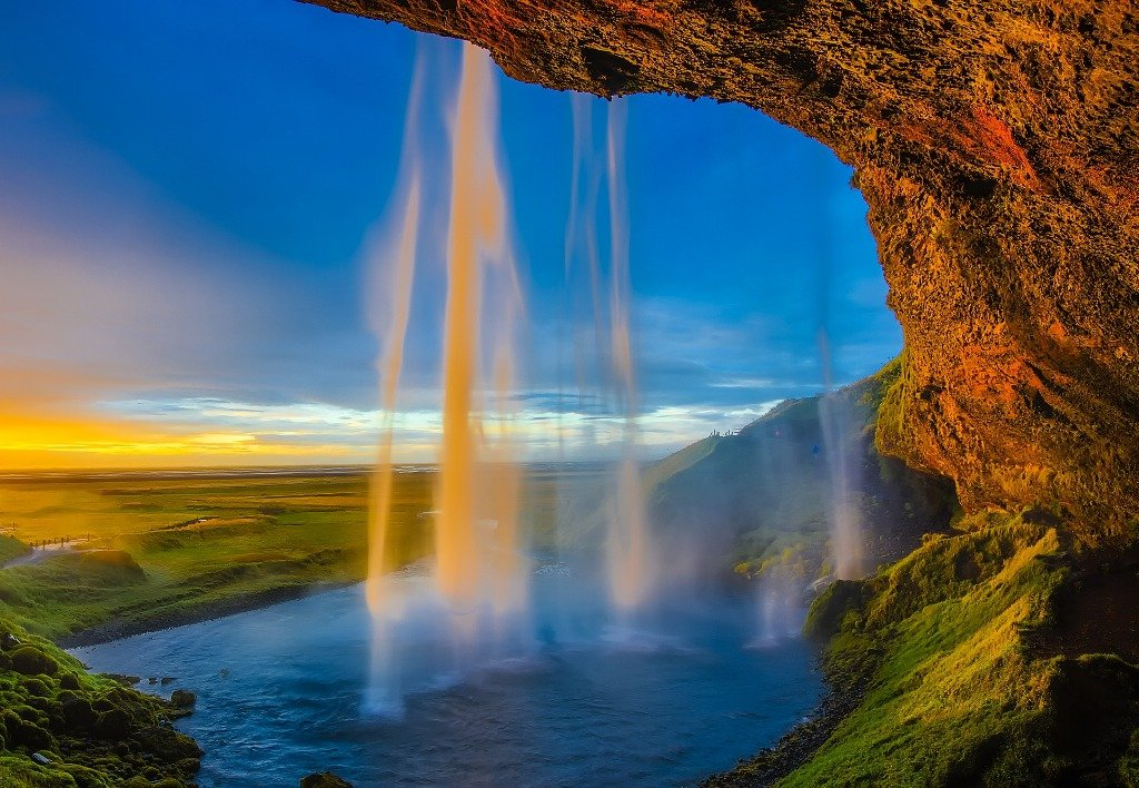 Island, Wasserfälle