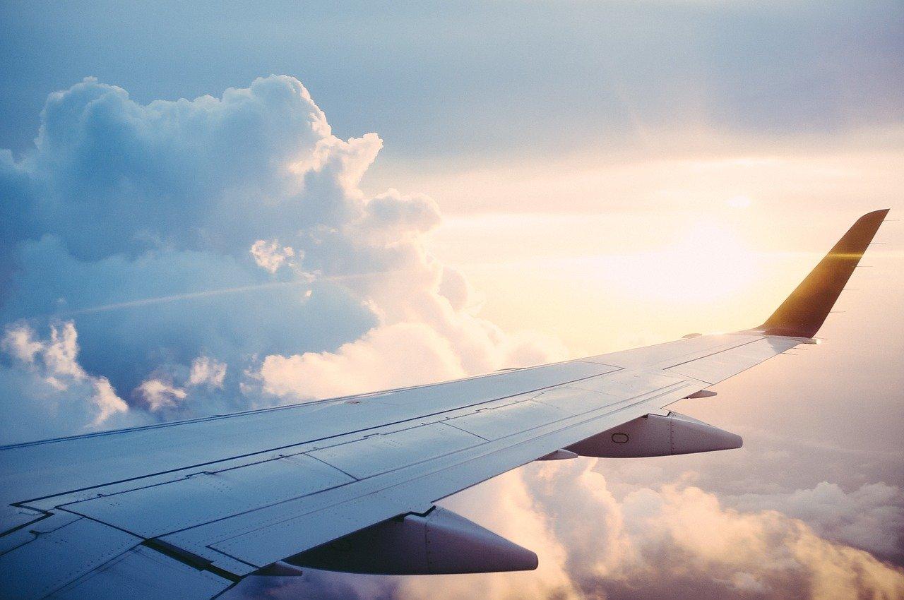 Flugzeug, Aussicht, Urlaub, Reise, Wolken