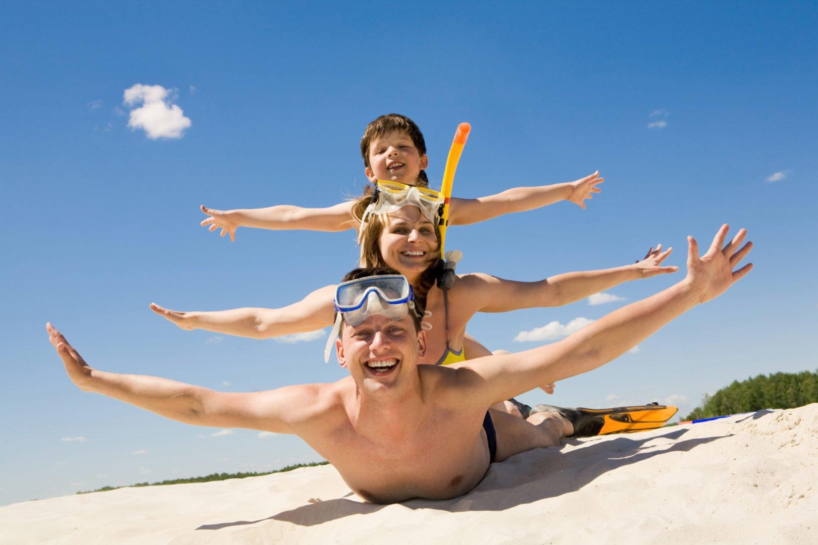 Familie, Kind, Strand, Urlaub, Reise, Spaß