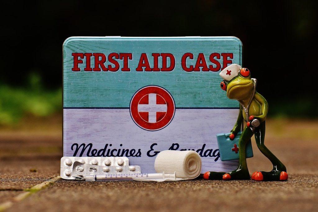 Reiseapotheke, Baby, Frosch, Medikamente, Kind, Urlaub