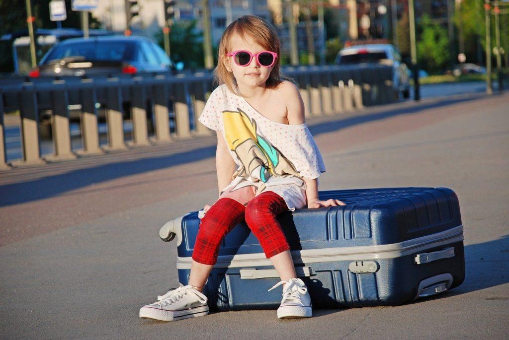 Kind, Koffer, Urlaub, Reise, Gepäck