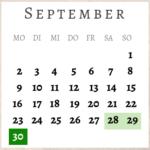 September 2019, Brückentage
