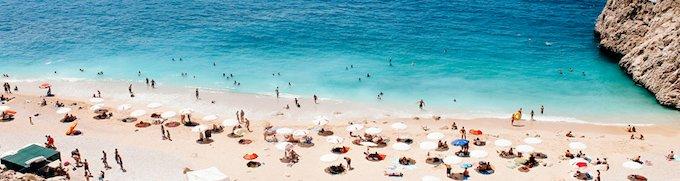 Badeurlaub am Strand der Türkei