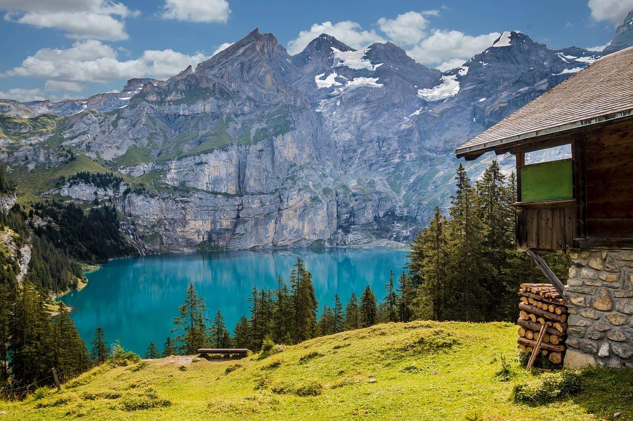Berghütte mit traumhaftenn Bergpanorama