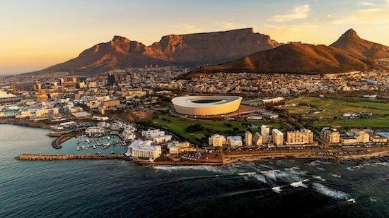Skyline von Kapstadt Südafrika
