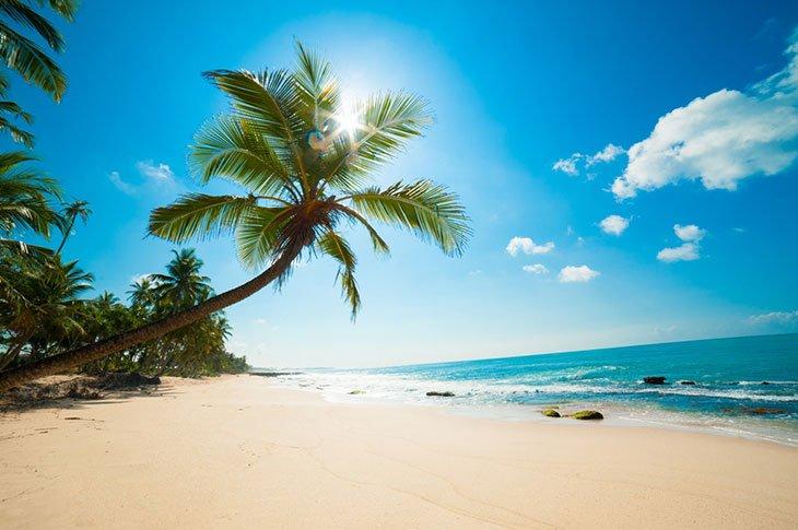 Urlaub am weißen Sandstrand von Malediven