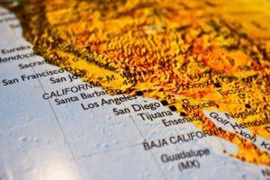 Westküste der USA Landkarte