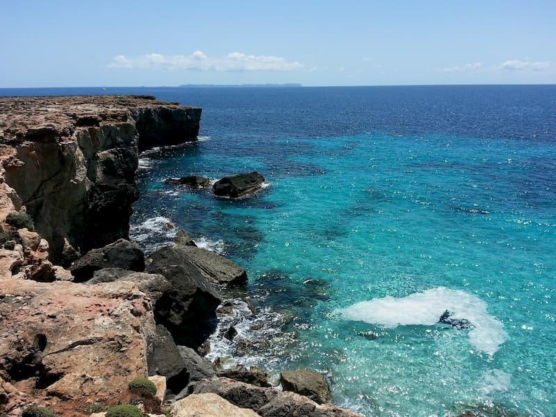 Bucht mit toller Aussicht auf Mallorca
