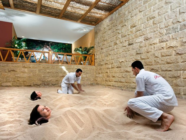 Das Wellnessangebot des Jungle Aqua Park Resorts kann sich ebenfalls sehen lassen