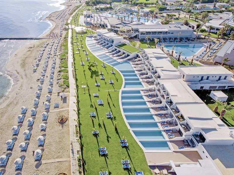 Hoteltipps Kreta Familienhotel Lyttos Beach Strand Außenanlage
