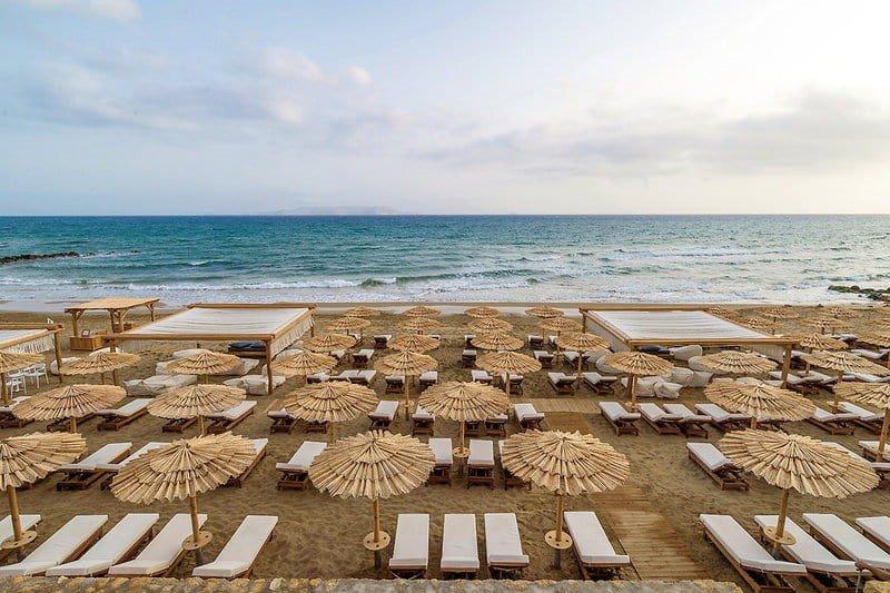 Hoteltipps Kreta Familienhotel Mitsis Rinela Beach Resort & Spa Strand und Meerblick