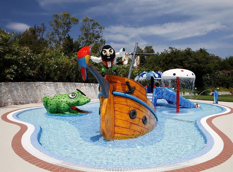 Hoteltipps Kreta Familienhotel Pilot Beach Resort Wasserattraktion Kinder